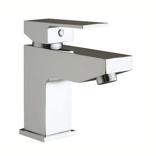 Eleanor Modern Mono Basin Tap with Sprung Waste- Chrome