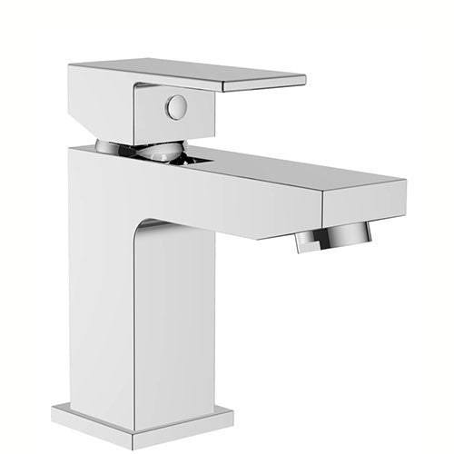 Eleanor Modern Mini Basin Tap with Sprung Waste- Chrome