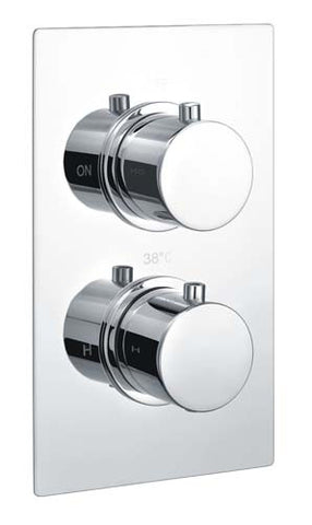 Hapilife® Round Dual Concealed Control Shower Valve -Chrome