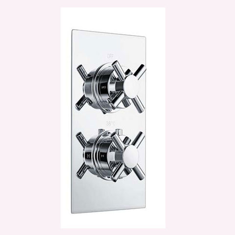 Hapilife® Crossed Dual Concealed Control Shower Valve -Chrome