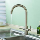 Hapilife® Dual Lever Kitchen Tap-Brushed Nickel