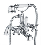 Hapilife® Traditional Victorian Bath Shower Tap – Chrome