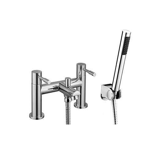 Freya Bath Shower Mixer with Shower Kits-Chrome