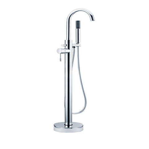 Freya Freestanding Bath Mixer with Shower Kit -Chrome