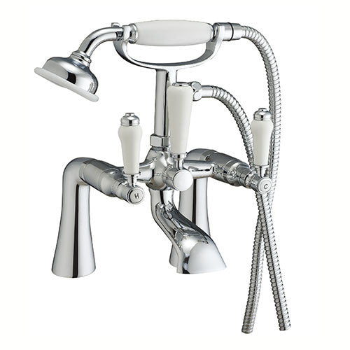 Stirling Ceramic Handle Bath Shower Mixer-Chrome