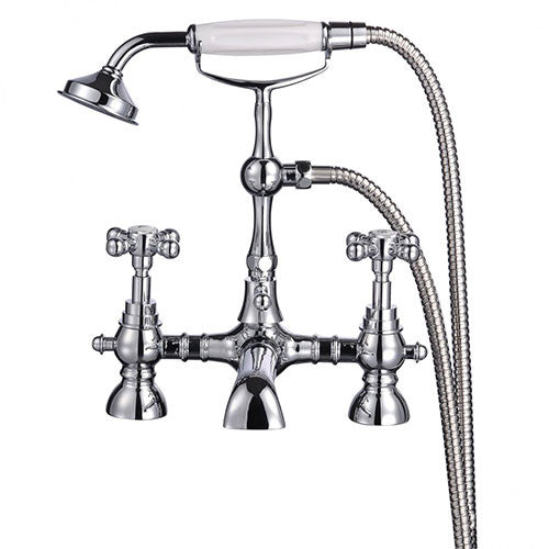 Alfriston Traditional Bath Shower Mixer Tap-Chrome