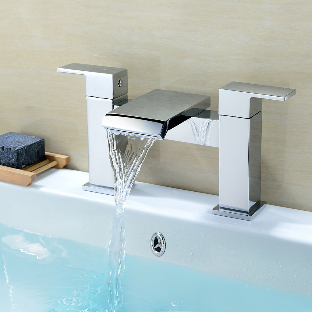 Alicia Waterfall  Bath Filler Tap - Chrome