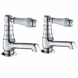 Hapilife® Ceramic Handles Bath Tap Pairs-Chrome