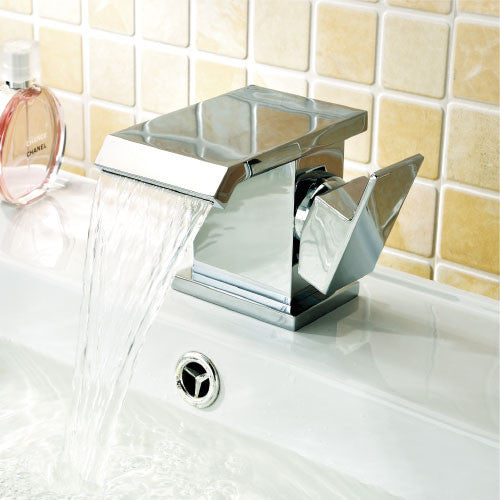 Alicia Waterfall Basin Mixer Tap-Chrome