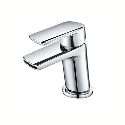 Viola Waterfall Mini Basin Mixer with Sprung Waste