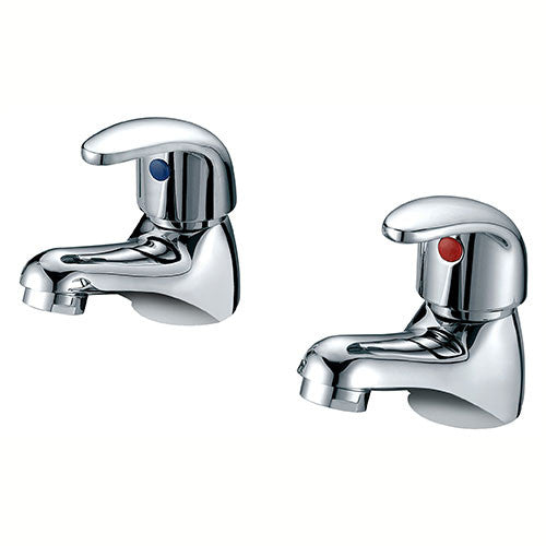 Charlotte Bath Pillar Taps-Chrome