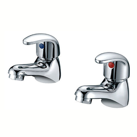 Charlotte Basin Pillar Taps-Chrome