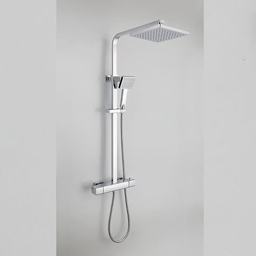 Hapilife® Cool Touch Square Shower Mixer Set -Chrome