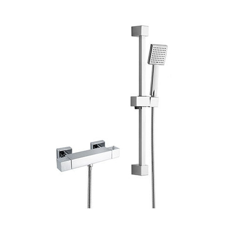 Hapilife®  Square Shower Slide Rail Kits with Bar Shower Valve