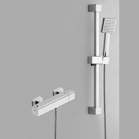 Hapilife®  Cool Touch Square Shower Slide Rail Kits -Chrome