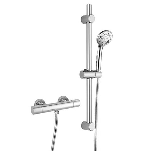 Hapilife®  Round Cool-Touch Shower Slide Rail Kits -Chrome