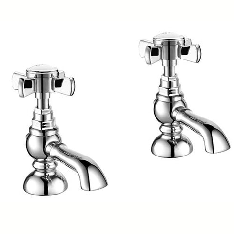 Crail Cross Handle Basin  Pillar Tap-Chrome