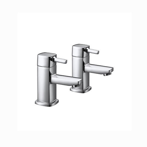 Ruby Minimalist Basin Pillar Taps-Chrome