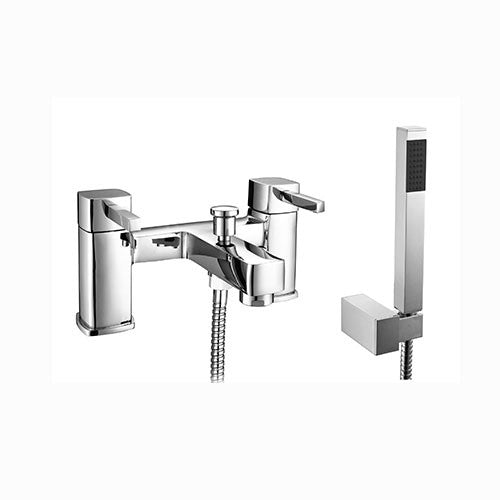 Ruby Minimalist Bath Shower Mixer with Shower Kit-Chrome