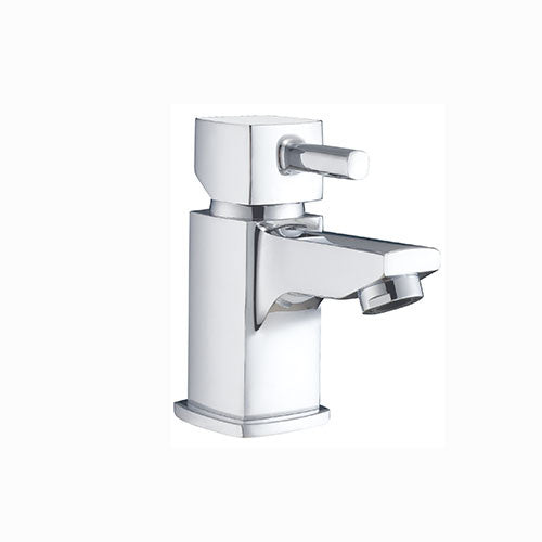 Ruby Minimalist Cloakroom Basin Mixer with Sprung Waste