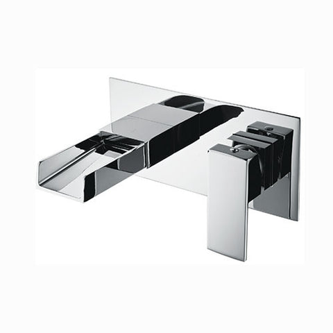 Haven Waterfall Wall Mounted Bath Filler-Chrome