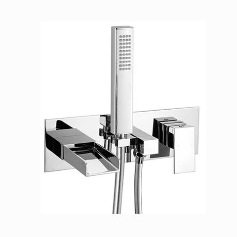 Haven Waterfall Wall Mounted Bath Shower Mixer-Chrome