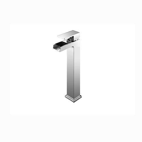 Max Tall Mono Basin Mixer with Sprung Waste
