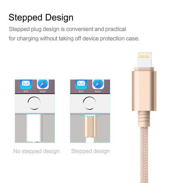 New Micro USB 3 IN 1 Deluxe USB Cable for iPhone 6 7 Android with Mobile Phone Data Sync at 1.2M Length