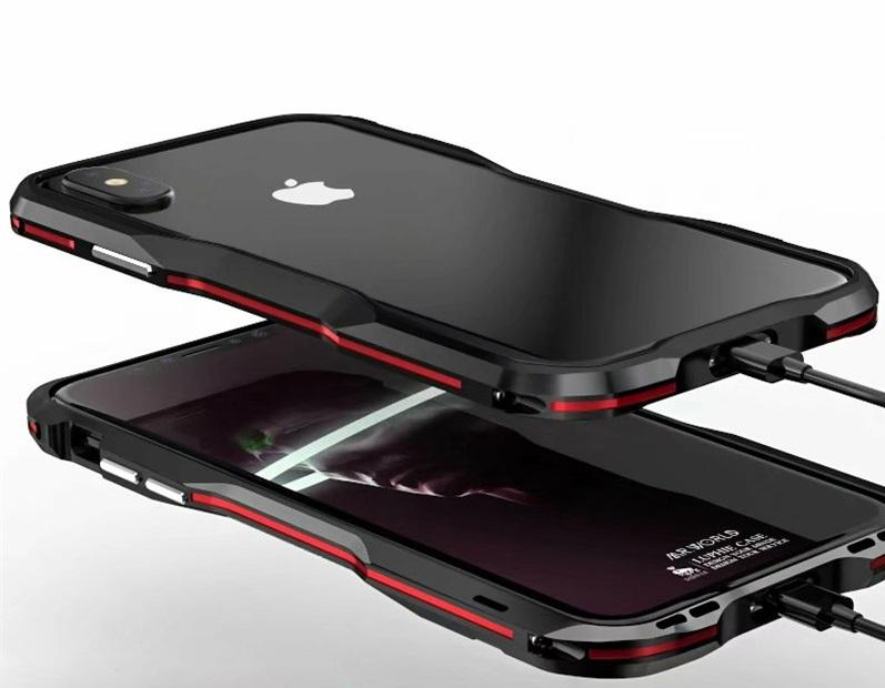 pretty nice ae143 c0502 New Metal Shockproof Premium Frame Case w/ Sound Chamber - Aluminum Frame  for iPhone 7 8 X XS XR Series