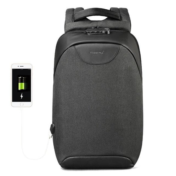 New Anti-Theft Laptop Soft-Handle Backpack USB Charging Smart Back Pack Bag for Travel Scool