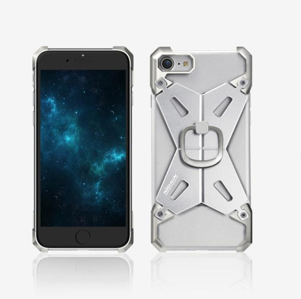 New Ultra Slim Full Metal Aluminum Alloy Armor Case with Ring for Apple iPhone 7 / 7 Plus