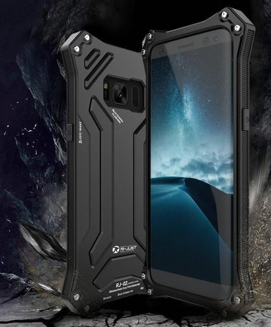 New Futuristic Style Aluminum Shock and Lifeproof Metal Case for Samsung Galaxy S8 / S8 Plus / Note 8