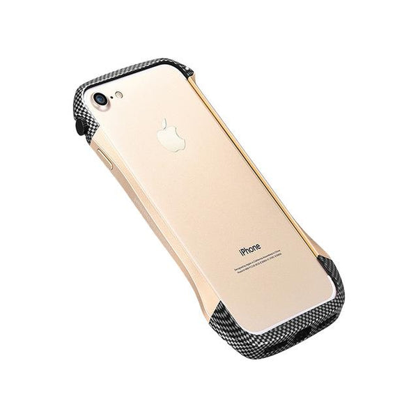 Luxury Metal Frame Case Ultra Thin Bumper Case Hybrid Carbon Fiber Shockproof Cover for iPhone 6 6S 7 7 Plus
