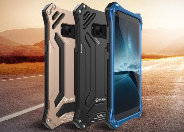 New Futuristic Style Aluminum Shock & Drop-Proof Metal Case with Silicone Cover for Samsung Galaxy S8 & S8 Plus
