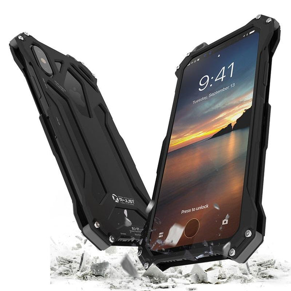 New Premium Ultra Slim Alloy Armor Shell Metal Aluminum Phone Case for iPhone 8 X XS XR Series