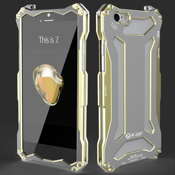 New Futuristic Style Luxury Space Aluminium Super Thin Full Armor Case For Apple iPhone 7 / 7 Plus