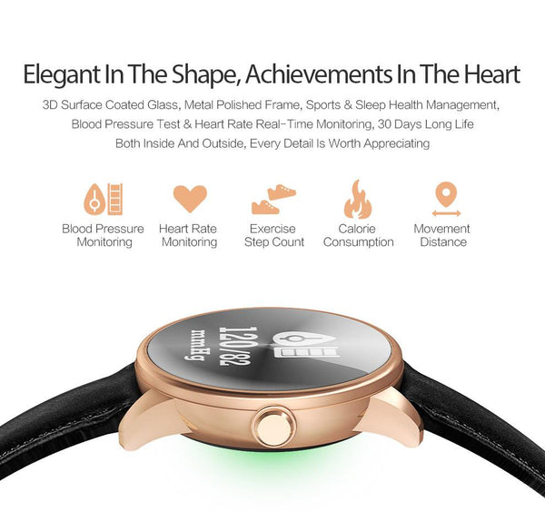 New Health Band Bluetooth Wristband with Blood Pressure Heart Rate Fitness Monitor Smart Watch Bracelet