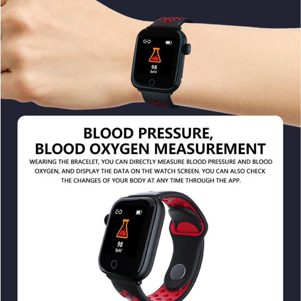 New Heart Rate Blood Pressure Monitor Multi-Sport IP67 Waterproof Smart Watch For Android IOS
