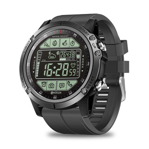 New Water Resistant Rugged Outdoor Smartwatch Real-time Weather Calorie Fitness Tracker