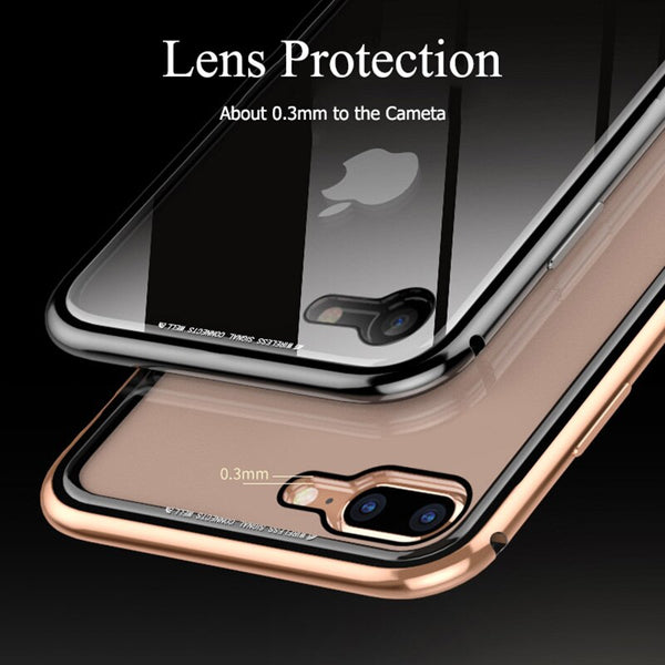 New Metal Bumper Clear Hard TPU Back Luxury Aluminum Frame Phone Cover Case for iPhone X XR XS Max