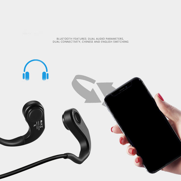 New Bluetooth 4.1 Stereo Waterproof Sport Neckband Headset Earphone Earbuds With HD Microphone