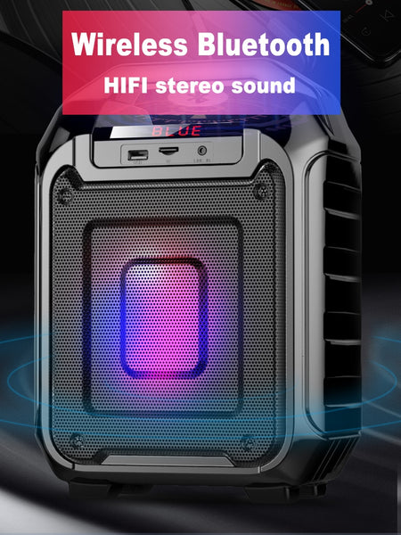 New Bluetooth Portable LED Light Wireless Outdoor Speaker Mini Subwoofer For iPhone Android