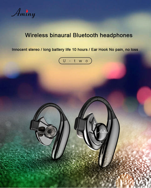 New Wireless Bluetooth HD Stereo Earbuds Noise Cancelling IPX6 Sweatproof Earphone Earbuds Headset