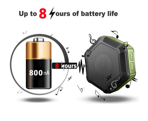 New Outdoor Sport Wireless Bluetooth Waterproof Portable Subwoofer Full Range USB Mini Speaker