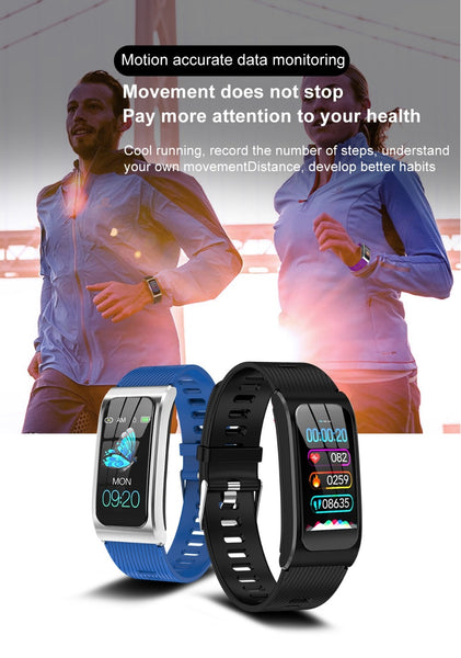 "New Women's 1.14"" IP68 Waterproof Heart Rate Stopwatch Fitness Tracker Smartwatch Bracelet For Android IOS"