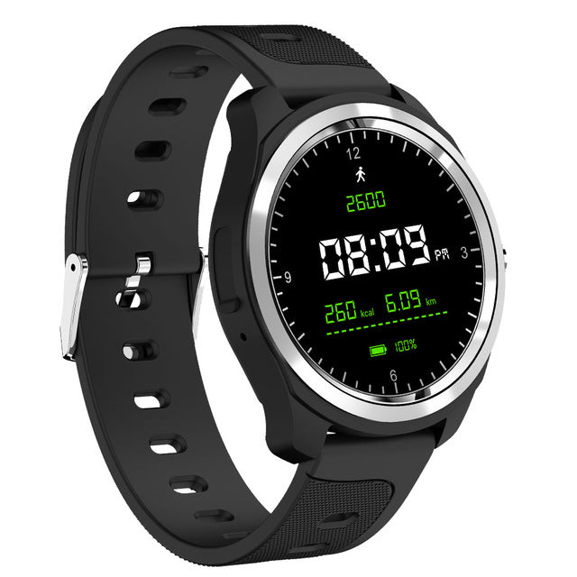 New Bluetooth Heart Rate Blood Pressure Voice Assistant Music Control Weather Forcast Fitness Sport Smartwatch