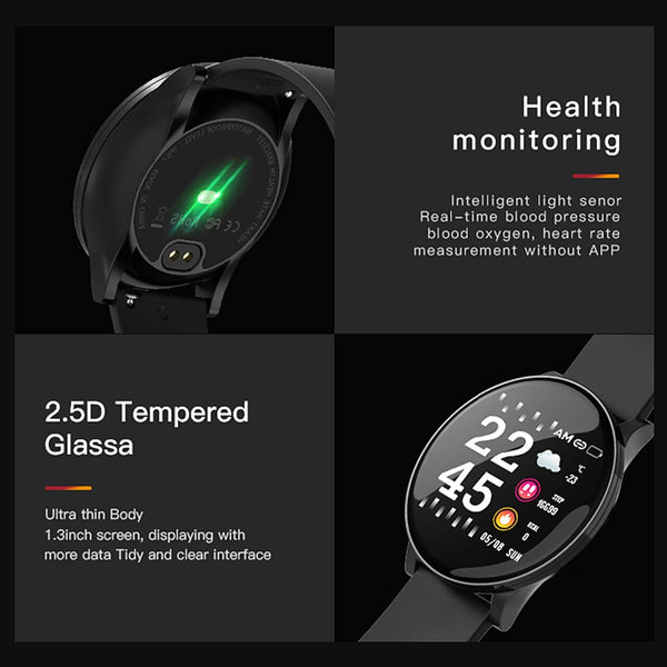 New Heart Rate Monitor Sport Fitnes Tracker IP68 Waterproof Smartwach For iPhone Androids