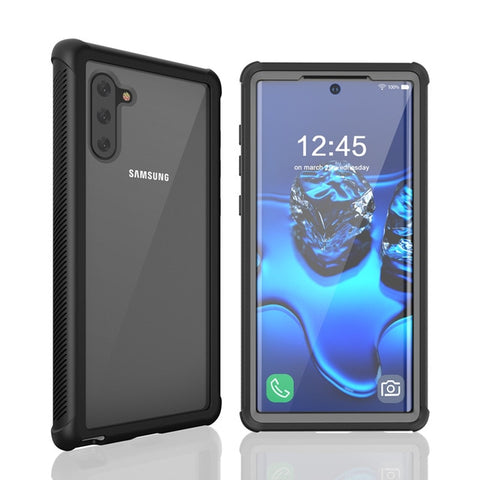 New Heavy Duty Hard Silicone Cover Case With Screen Protector For Samsung Note 10 Pro Series