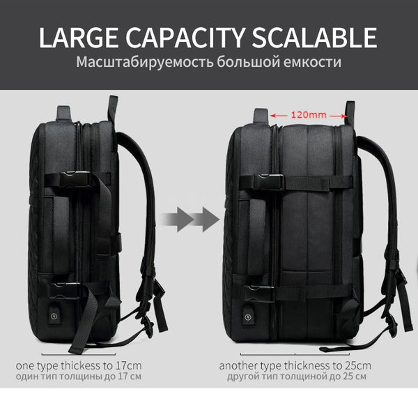 New Travel Expandable 12cm Multifunctional 15.6 Inch Laptop Notebook Outdoor Travel Mochila Backpack
