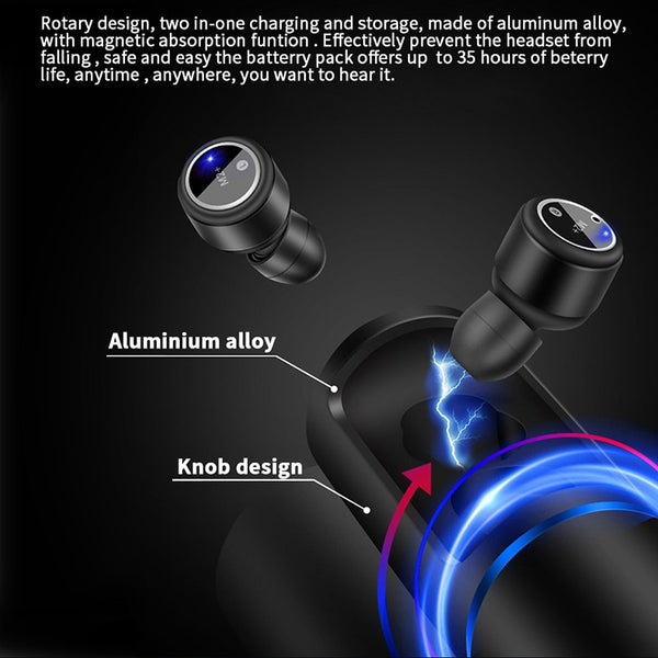 New Ultra Mini Bluetooth Earphone Sport Earbuds Stereo Microphone Headset For iPhone Android Gifts